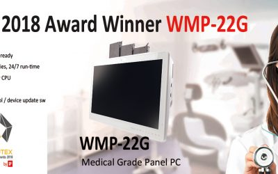 Wincomm Medical Fanless Hot-swappable Batteries Touch Panel PC Has Won the Best Choice Golden Award 2018 and COMPUTEX d&i awards 2018