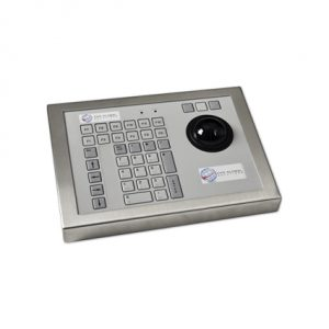 42 Key Rugged Industrial Keyboard with Trackerball