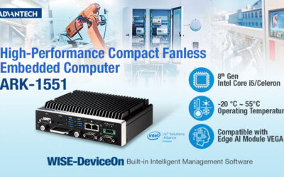 Advantech Releases High-Performance Compact Fanless Embedded Computer for Automation and Kiosk Applications