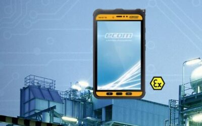 "Fit for the Internet of Things: The new industrial tablet ""Tab-Ex 02"" from ecom"