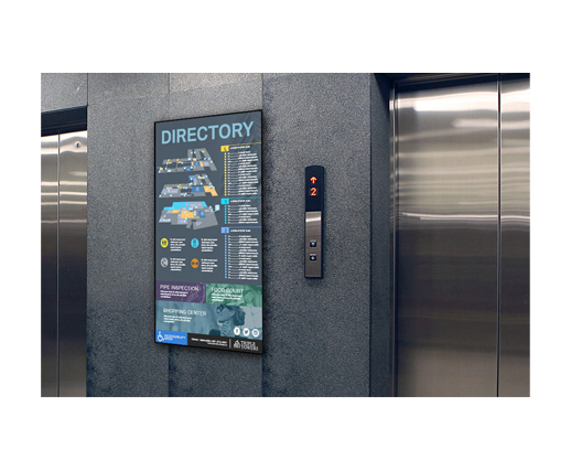 Stairwell Directory and Information boards