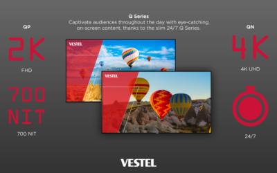 Partner News: Vestel announces Q Series range of 24/7 E-LED displays